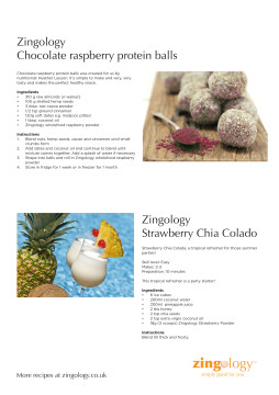 Zingology Strawberry and Raspberry Recipe