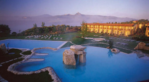 Adler Thermae pool mountains